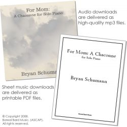 For Mom: A Chaconne for Solo Piano - Grouped - Product Image