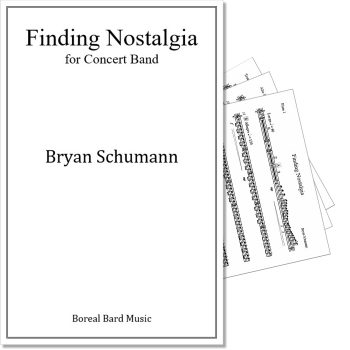 Finding Nostalgia for Concert Band - Sheet Music Product Image