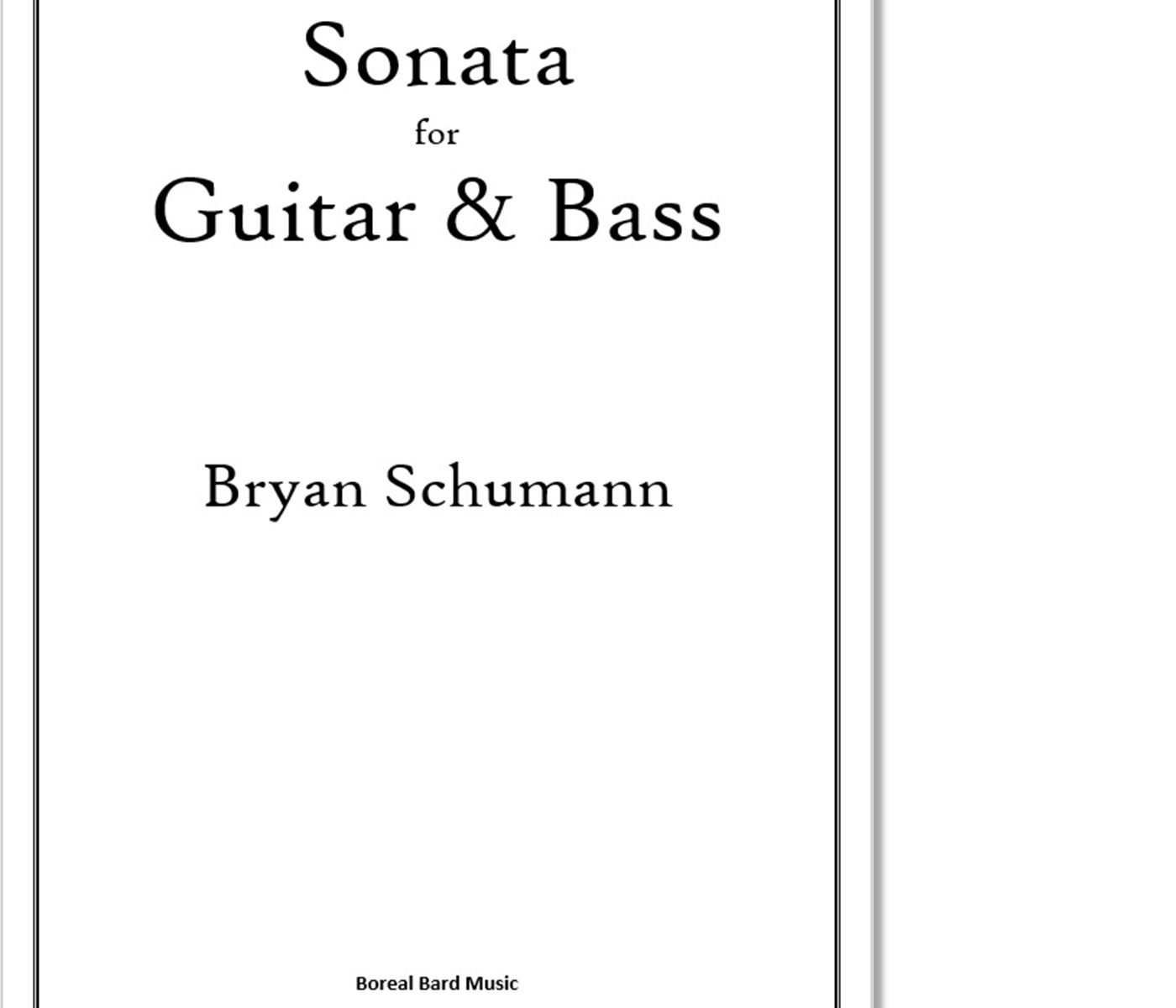 Sonata for Guitar & Bass - Sheet Music Product Image