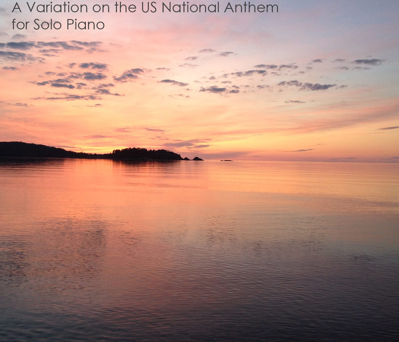 The Star-Spangled Banner: A Variation on the US National Anthem for Solo Piano - Album Cover Art