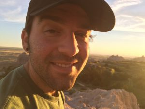 Bryan at Badlands Sunset