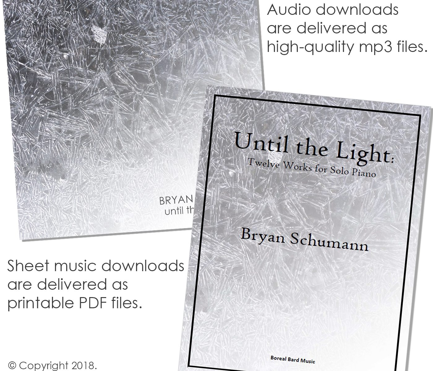 Until the Light CD cover and sheet music booklet cover images