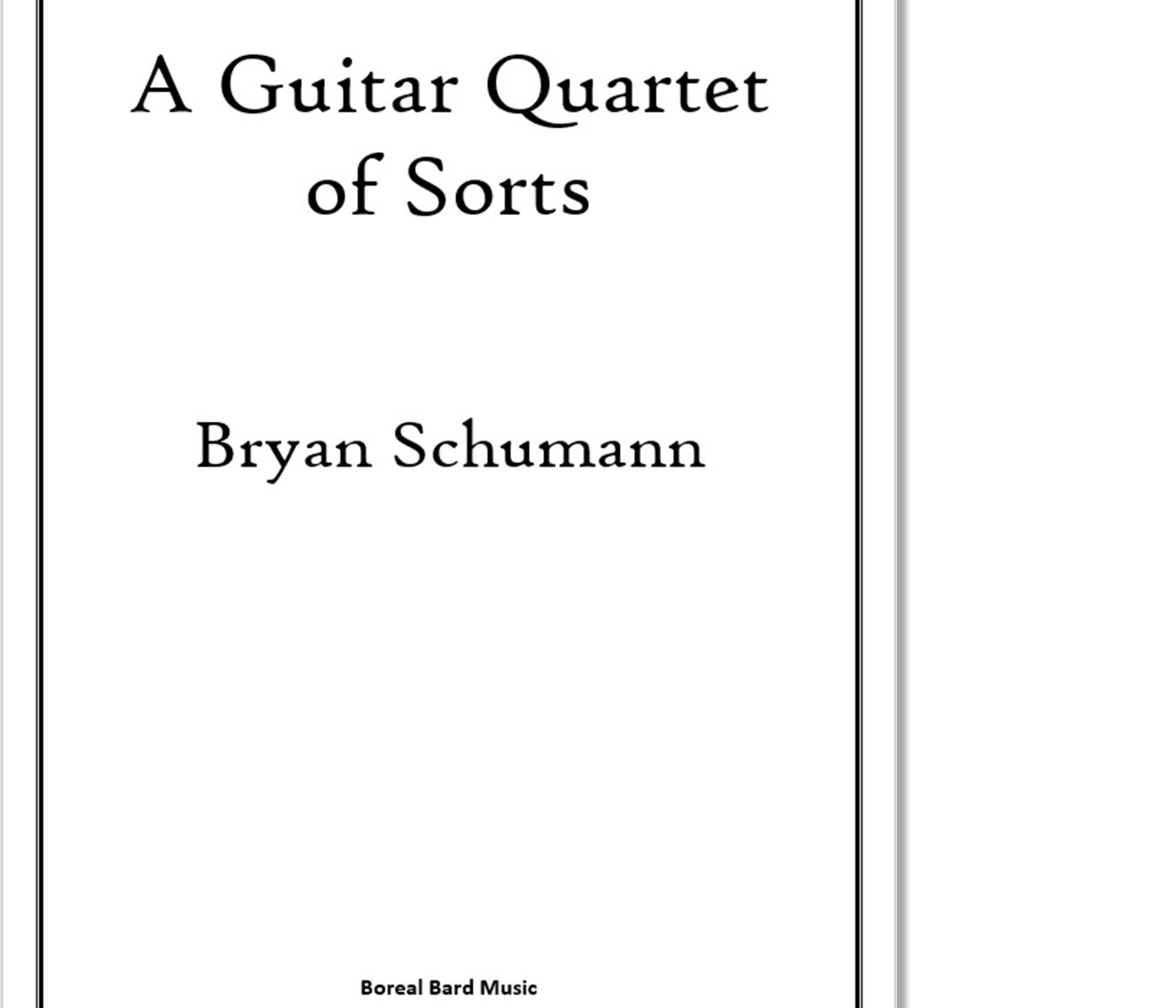 A Guitar Quartet of Sorts - Sheet Music Product Image