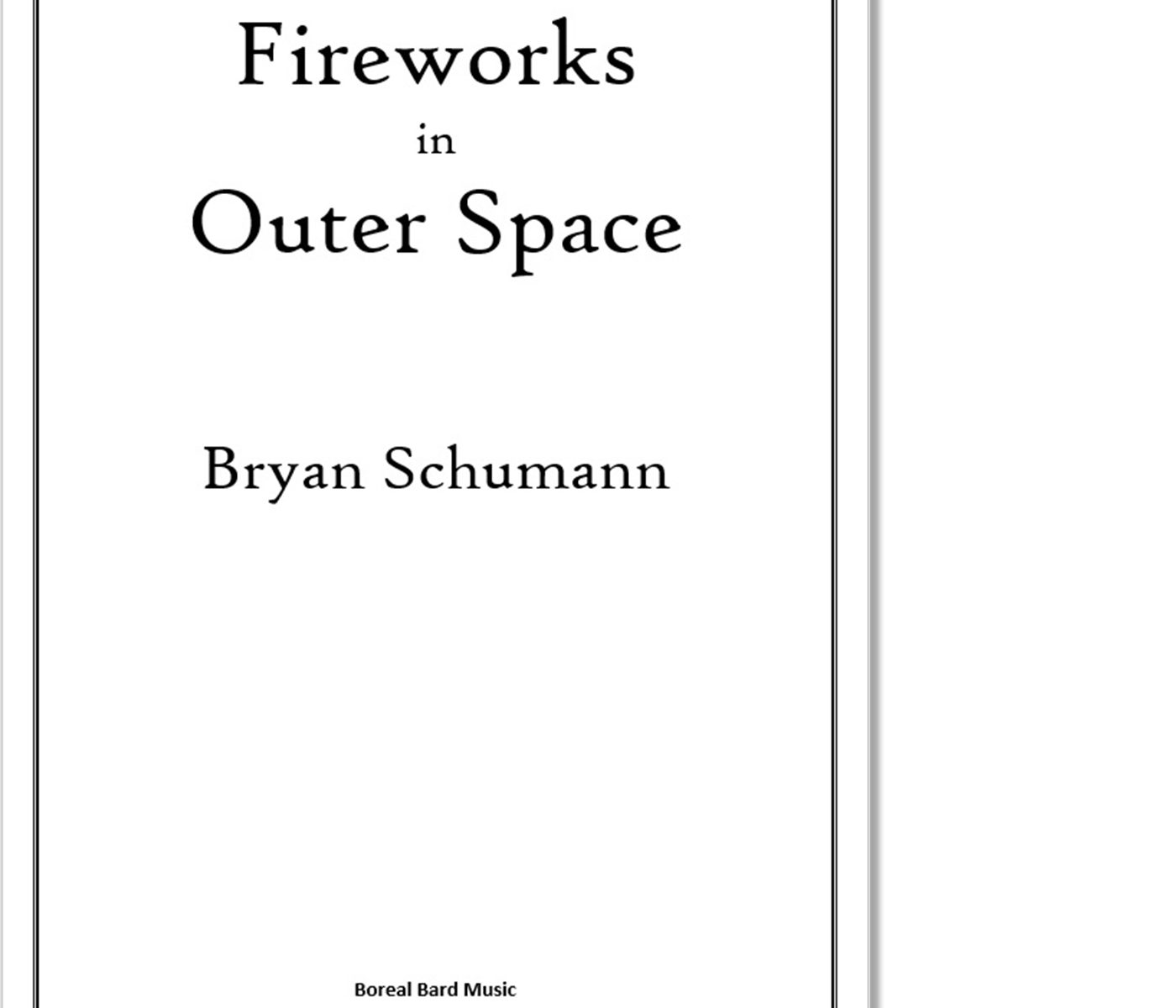 Fireworks in Outer Space - Sheet Music Product Image