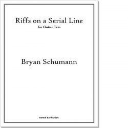 Riffs on a Serial Line for Guitar Trio - Sheet Music Product Image