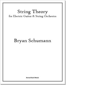 String Theory for Electric Gutiar & String Orchestra - Sheet Music Product Image