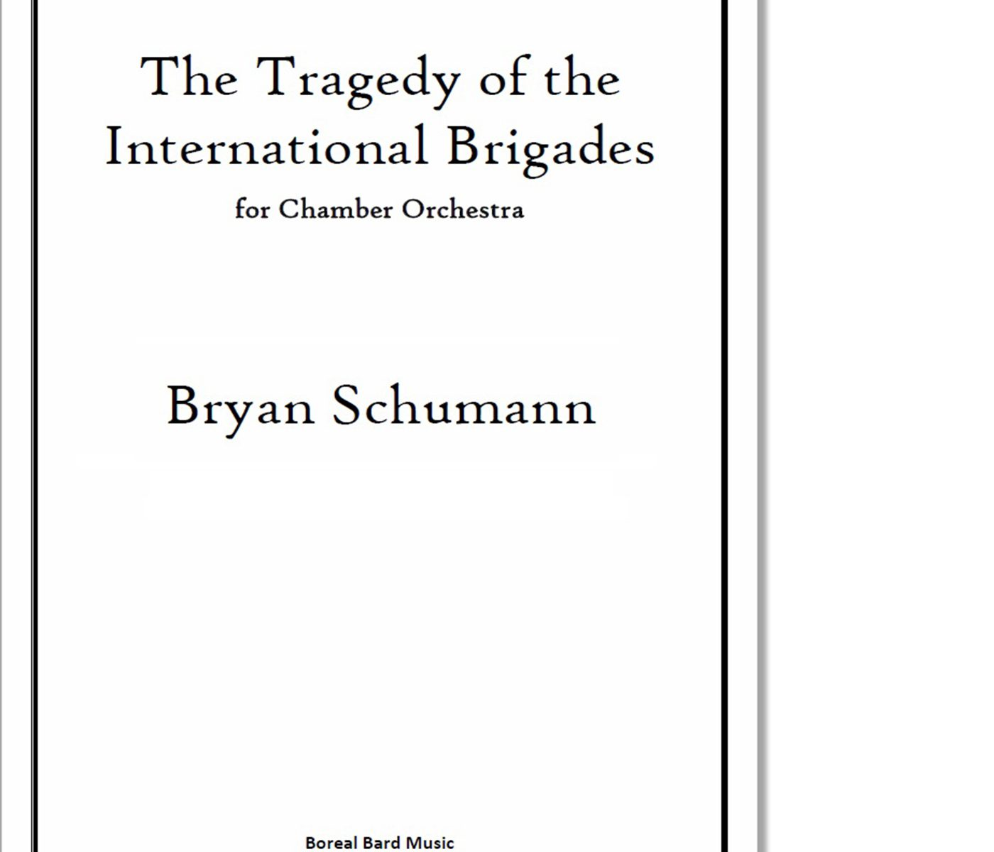 The Tragedy of the International Brigades - Sheet Music Product Image